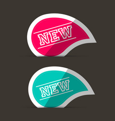 New labels pink and blue stickers vector