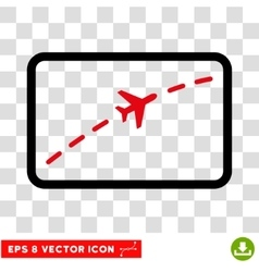 Plane Route Eps Icon vector image vector image