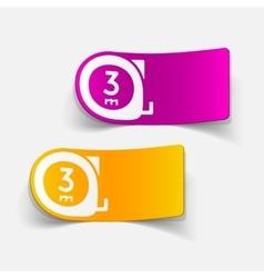 realistic design element cartridges meters vector image