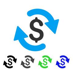 Refresh money balance flat icon vector