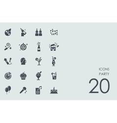 Set of party icons vector