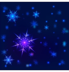Shiny snowflake background vector