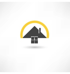 simple house vector image vector image
