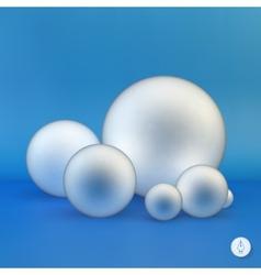 Spheres 3D vector image vector image