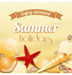 Summer holiday vacation background vector image vector image