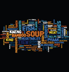 thai dishes north east text background word cloud vector image