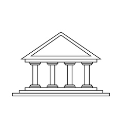 Theater icon in outline style vector