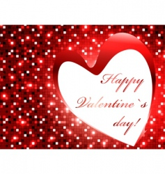 valentine day frame vector image vector image