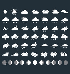 weather icons closeup vector image vector image