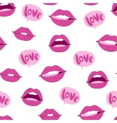Woman lips seamless pattern vector