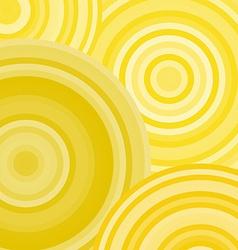 Yellow ripples circles abstract geometric vector