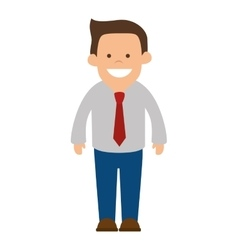 Man wearing suit and tie vector