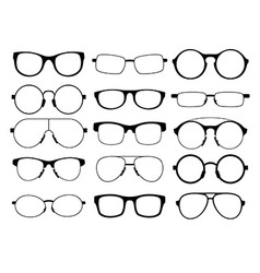 Set of eyeglasses vector