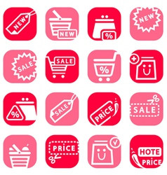 Color online shopping icons vector