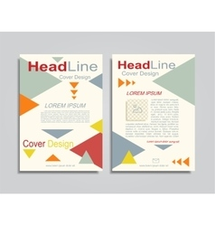 Brochure design layout with place for your data vector