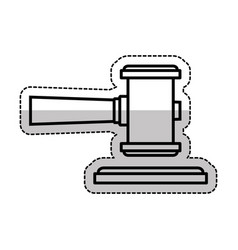 Gavel justice isolated icon vector