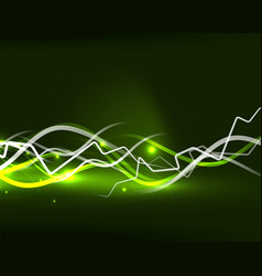 glowing wavy lines template vector image