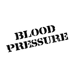 Blood pressure rubber stamp vector