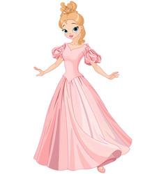 Beautiful fairytale princess vector