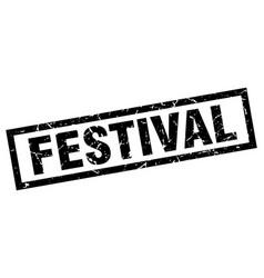 Square grunge black festival stamp vector