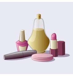 Cosmetics set vector