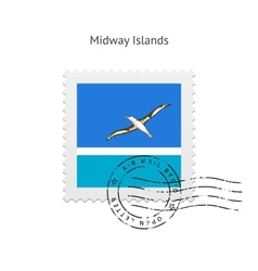 Midway islands flag postage stamp vector