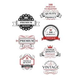 Premium quality label collection vector