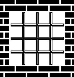 Grate prison window black symbol vector
