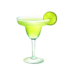 Margarita cocktail realistic vector image