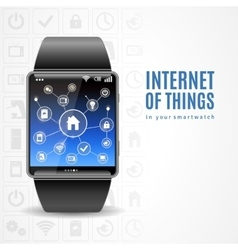 Smart watch internet concept vector