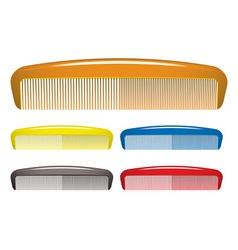 Plastic hair comb vector