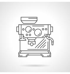 Espresso machine flat line icon vector