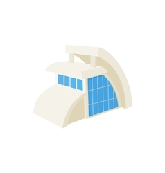 Modern building icon cartoon style vector