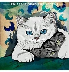 Funny kittens vector