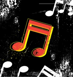 Music grunge design vector