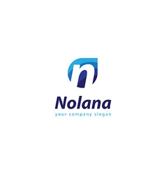 letter N logo Template for your company vector image