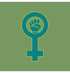 Green feminism symbol vector