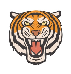 Angry tiger image vector