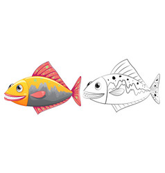 Animal outline for fish vector