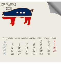 animals calendar vector image vector image