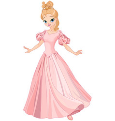 beautiful fairytale princess vector image vector image