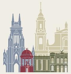 Bogota skyline poster vector