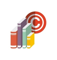 Book and c icon Copyright design graphic vector image
