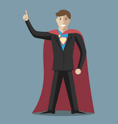 Businessman super hero vector