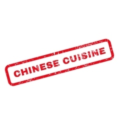 Chinese cuisine text rubber stamp vector