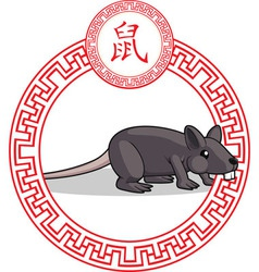 Chinese zodiac animal rat vector