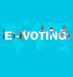 e-voting online poll electronic election internet vector image