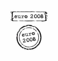 Euro 2008 stamp vector