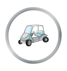 Golf cart icon in cartoon style isolated on white vector image