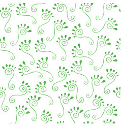 Green footprints vector